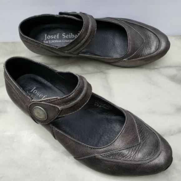 d272e20c0a786 Josef Seibel Shoes | 6 Mary Jane Pewter Comfort Low Heels | Poshmark